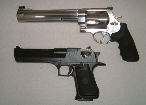 Smith And Wesson 500 Magnum Vs Desert Eagle
